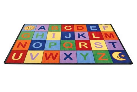 clearance classroom rugs angeles 174 alphabet seating rug rectangle 8 5 quot x 11 9 quot