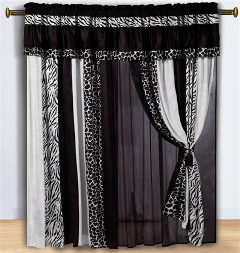 zebra print drapes modern curtains for your living room hometone