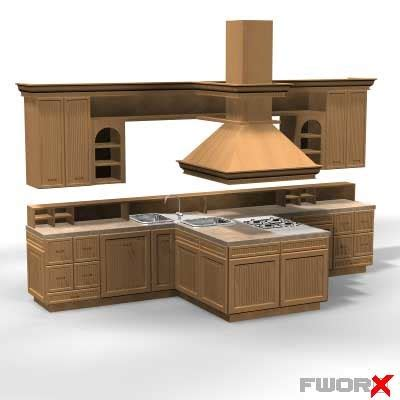 kitchen cabinet models kitchen cabinet stove 3d model
