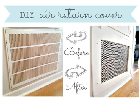 Decorative Air Return Vent Covers by Hometalk How To Make A Decorative Air Return Vent Cover