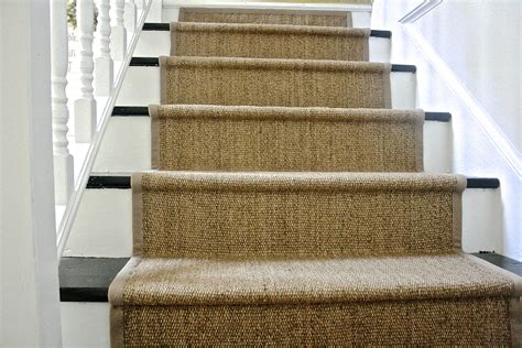 rug stairs diy ikea jute rug stair runner what emily does