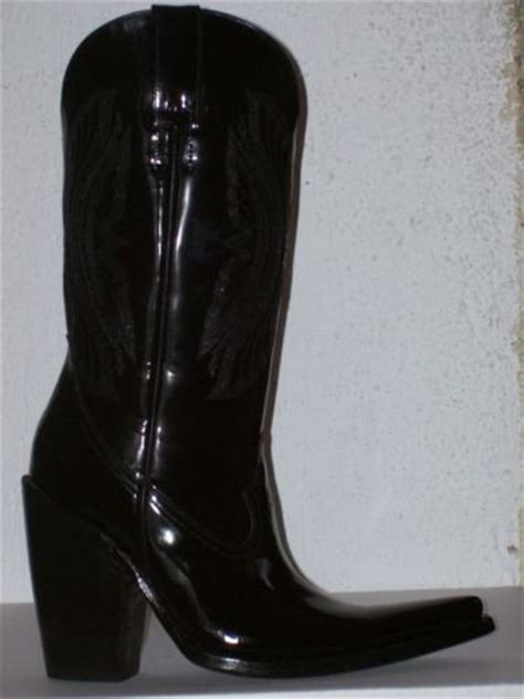 patent leather cowboy boots 12 high 5 quot heels