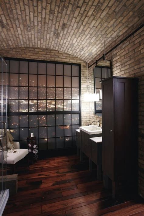 Wall Ceiling 39 Stylish Bathrooms With Brick Walls And Ceilings Digsdigs