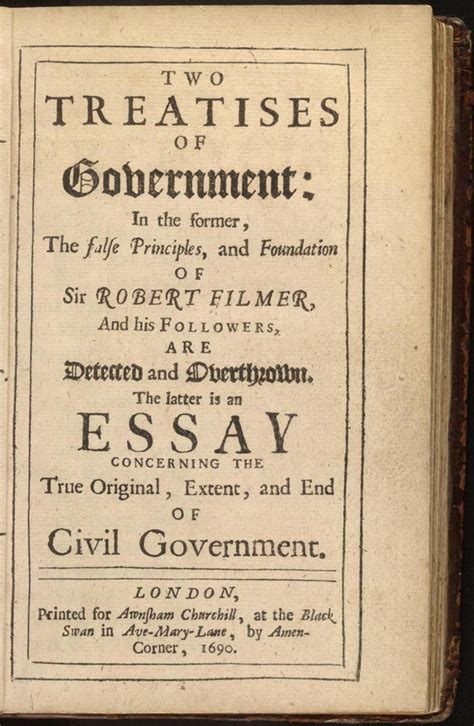 Government And Society Essay by Locke The Second Treatise Of Civil Government Pronk Palisades