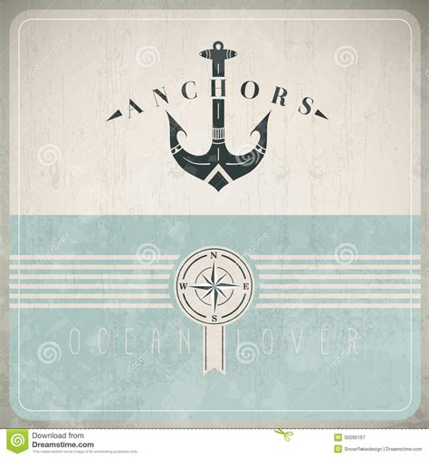 Classic Vintage Style Anchor vintage design template with anchor stock vector image