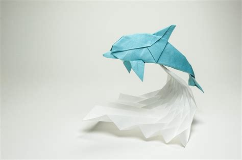 3d Origami Dolphin - this week in origami black friday edition