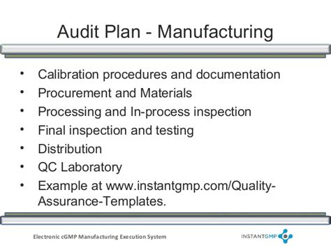 9 Audit Procedures by Instantgmp Compliance Series Supplier And Vendor