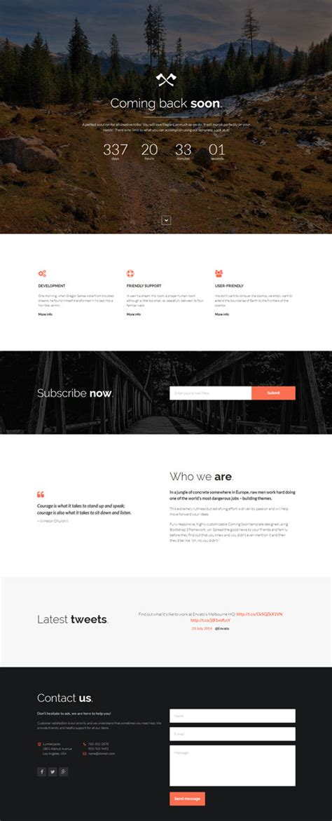 Ashoka Responsive Minimal Multipurpose Html Theme Themeforest minimal responsive coming soon template by