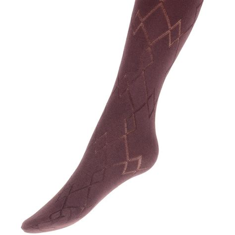 Brown Diamond Pattern Tights | opaque fashion tights with diamond pattern black or brown