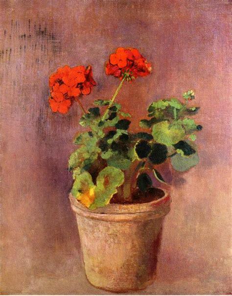 vaso di gerani gerani odilon redon il giardino tempo