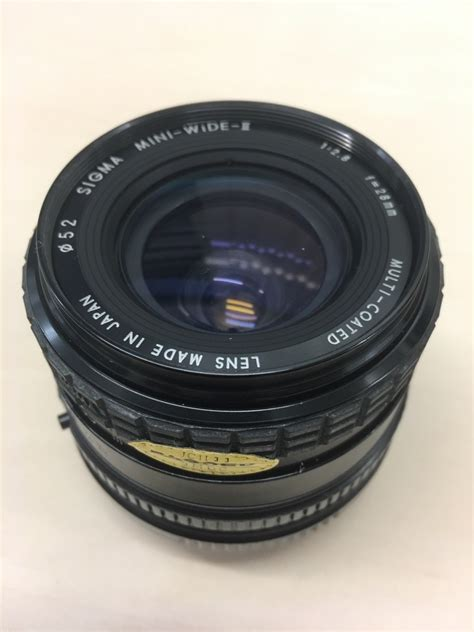 Sigmat Mini sigma mini wide ii 28mm f2 8 mf macro lens fit for canon