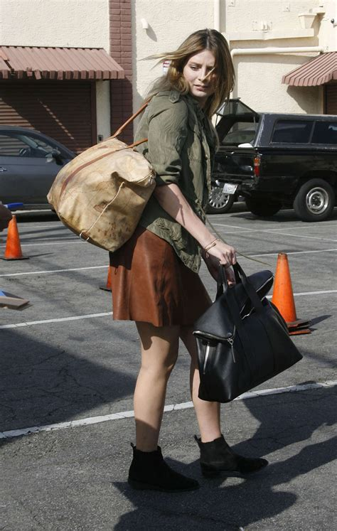 The Mccall Skirt That Mischa Barton Wore Is Now At Outfitters by Mischa Barton In Mini Skirt At Dwts Studio 12 Gotceleb