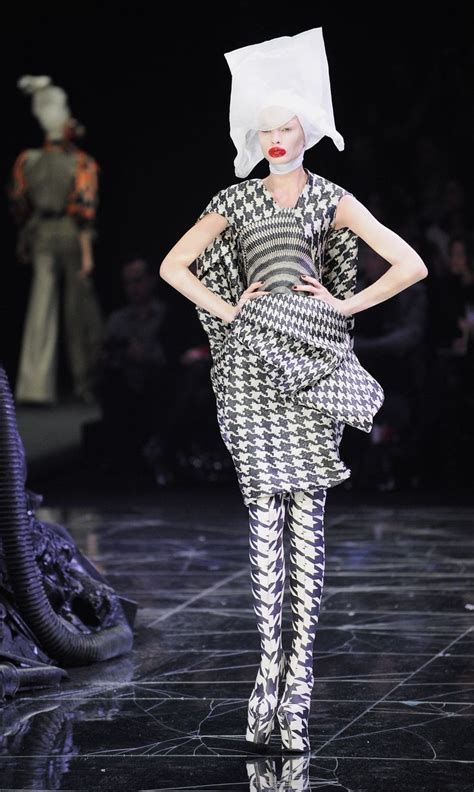 Horn Style Sml Dress mcqueen shoes runway houndstooth and boots