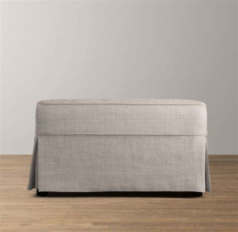 covering an ottoman ottoman slipcover home furniture design
