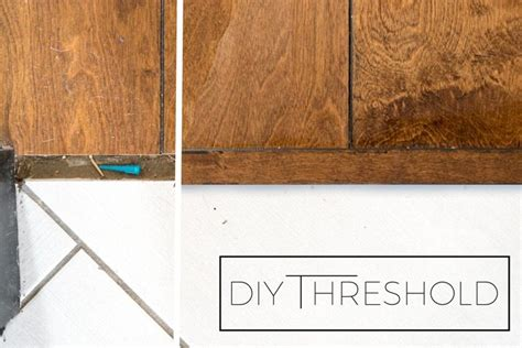 how to make your own threshold piece for wood flooring from leftovers vintage revivals