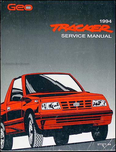 service manual [1994 geo tracker owners manual transmition