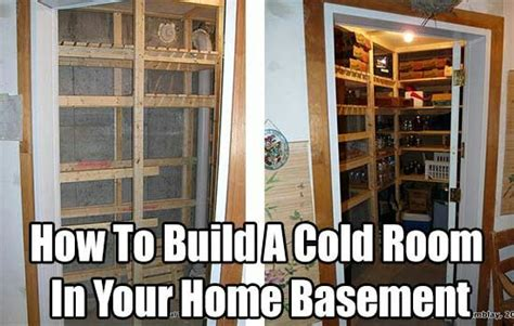 basement cold room design a cold room for food storage in your basement building