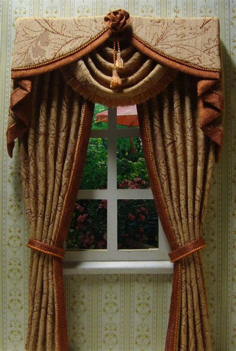 dollhouse curtain rods 17 best images about miniature curtains drapes window