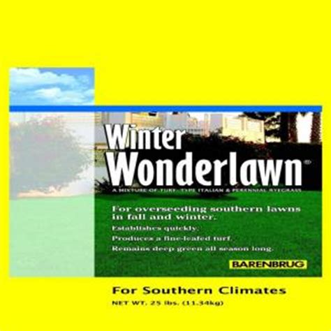 barenbrug 25 lb winter wonderlawn grass seed 23065 the
