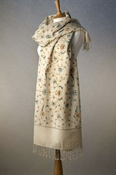 Pashmina Flower Linen 1000 images about embroideries on textiles