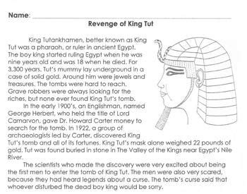 biography text multiple choice biography king tut info 6 multiple choice reading