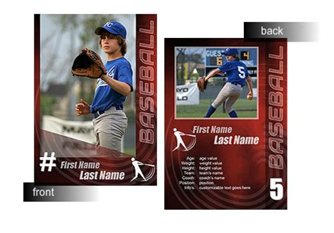 trading card template powerpoint baseball trading card