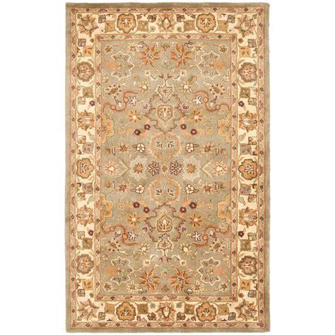 light tan area rug safavieh heritage light green beige 4 ft x 6 ft area rug