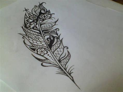 tribal feather tat