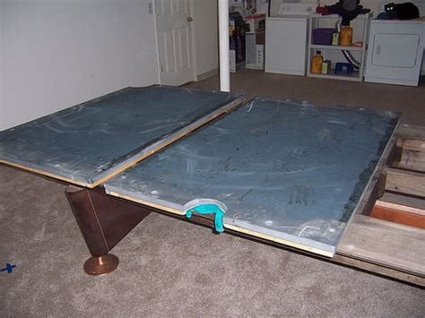 billiard table with 3 slate and frame