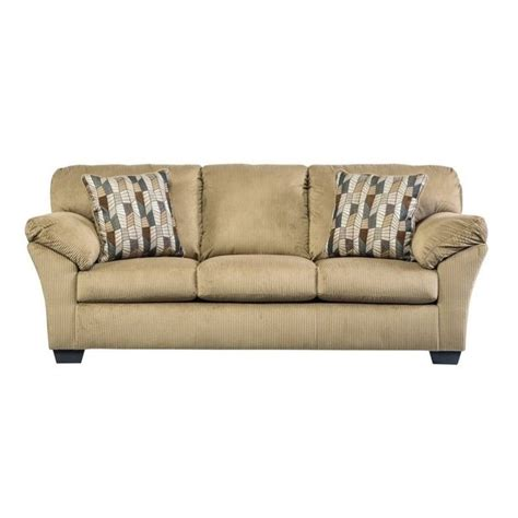 mocha sofa ashley aluria fabric queen size sleeper sofa in mocha