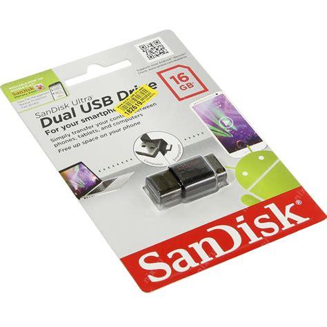 Sandisk Dual Usb Drive 16gb sandisk ultra dual usb drive 16gb sddd 016g black jakartanotebook