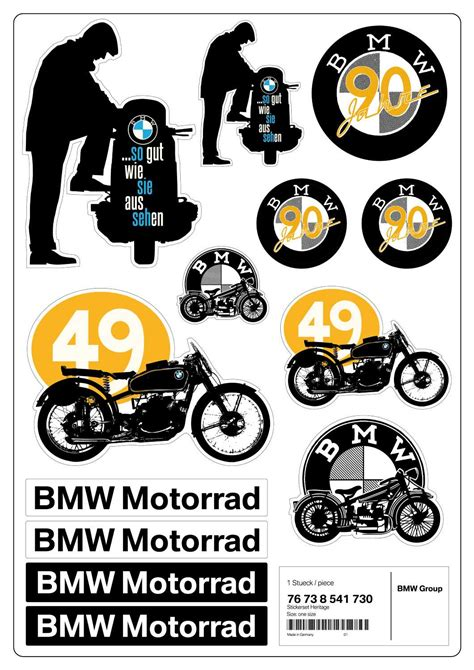 Aufkleber Für Bmw Motorräder by Bmw Motorrad Style Heritage 2013 Aufkleber Set Heritage
