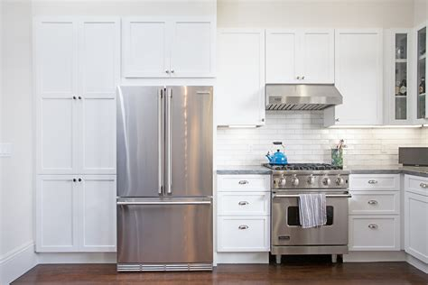 white kitchen stainless appliances kitchen remodel in san francisco s noe valley