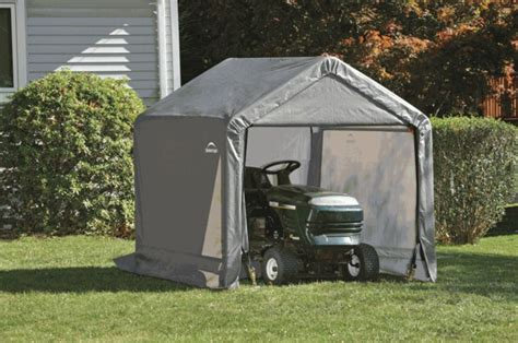 shed in a box shelterlogic shed in a box peak style portable storage shed with gray cover 6 foot x 6 foot x
