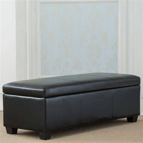 black faux leather ottoman storage bench black faux leather storage foot rest sofa ottoman bench