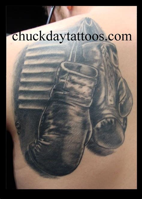 9 Dot Studio Tattoos Black And Gray Boxing Gloves Boxing Gloves Tattoos Pictures