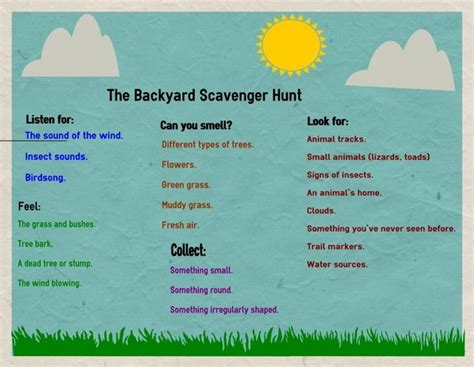 backyard treasure hunt ideas best 25 backyard scavenger hunts ideas on pinterest