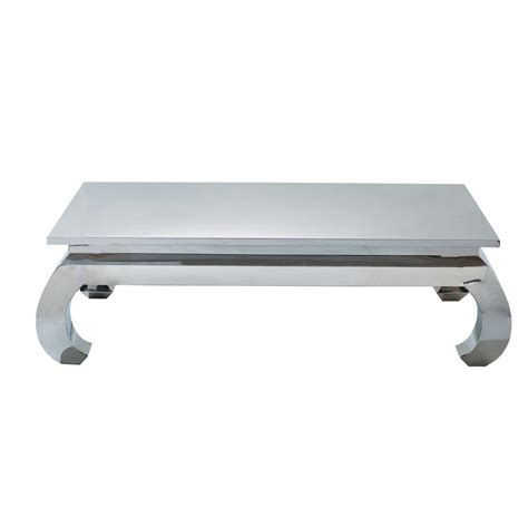 coffee table opium chrome opium chrome maisons du monde
