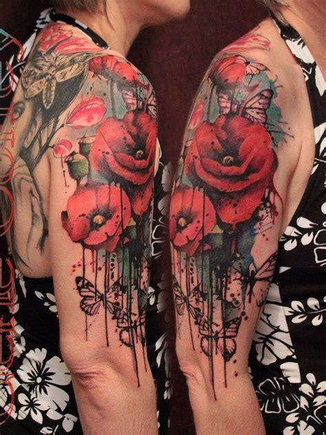 60 beautiful poppy tattoos watercolor poppy tattoo
