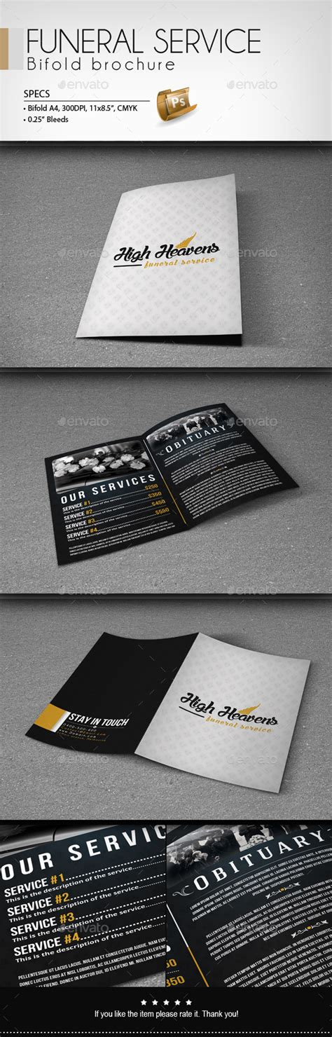 http graphicriver net item funeral service business card template 10998645 funeral service bifold brochure graphicriver