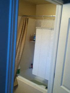 Wash Blinds In Bathtub by Use A Of 3m Hooks Installed Above The Tub Surround