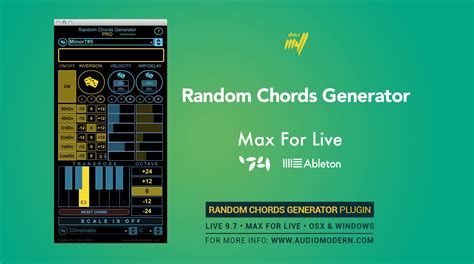 pattern generator max for live kvr random chords generator pro by audiomodern ableton
