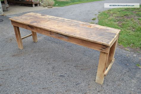 antique kitchen table with bench home decor interior