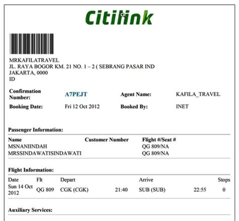 citilink booking ticket reservation center