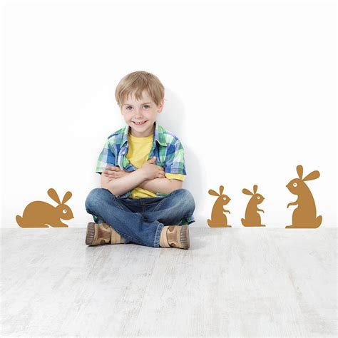St Bunny Kid Cc children s woodland rabbit wall stickers by snuggledust studios notonthehighstreet