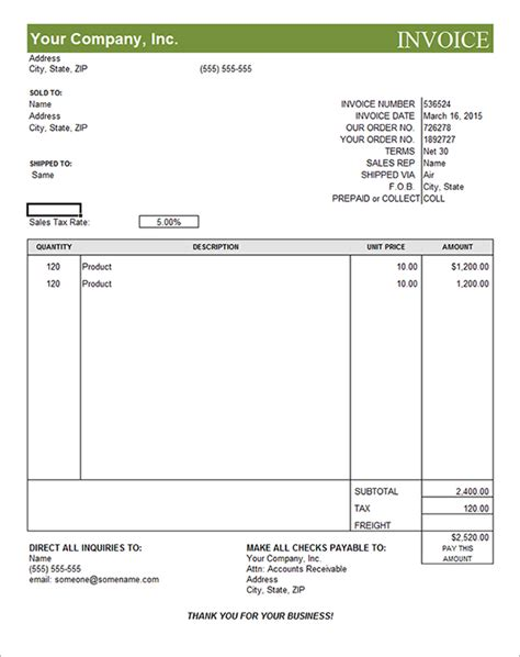 free invoice templates 6 best images of editable invoice templates printable