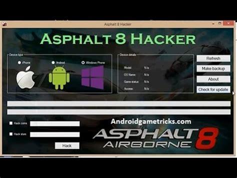 tutorial hack asphalt 8 full download how to hack asphalt 8 tokens