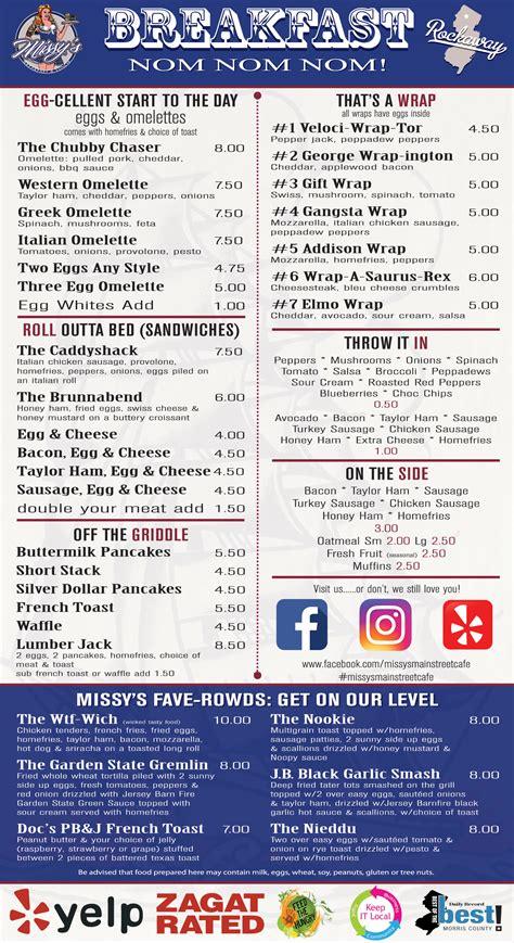 missys main street cafe menu