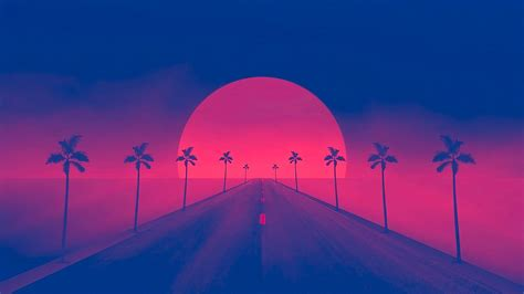 retrowave sunset  wallpapers hd wallpapers id