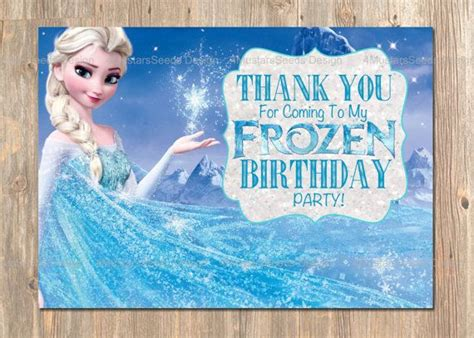 Frozen Thank You Card Template by Disney S Frozen Thank You Card Instant